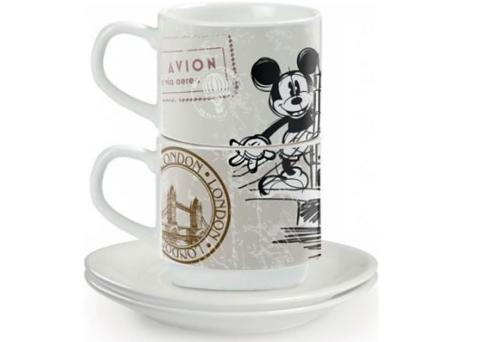 2 kubeczki espresso LONDON Mickey Disney Egan