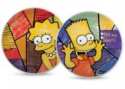 Zestaw 2 talerzy pizza Bart & Lisa The Simpsons Egan